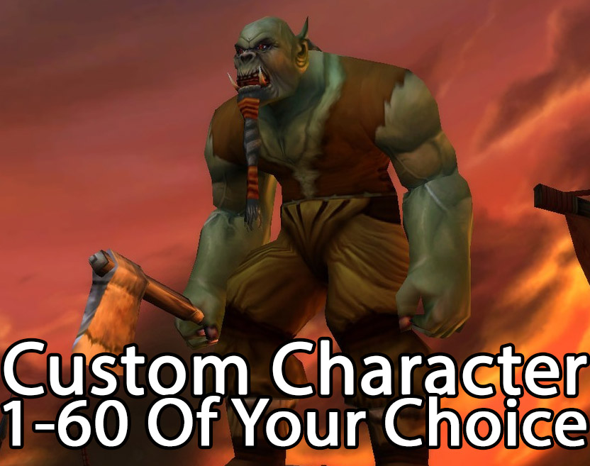 WoW Account  WoW Classic Custom 1-60 Boosting Package | Choose Your Server | Faction | Class | Name