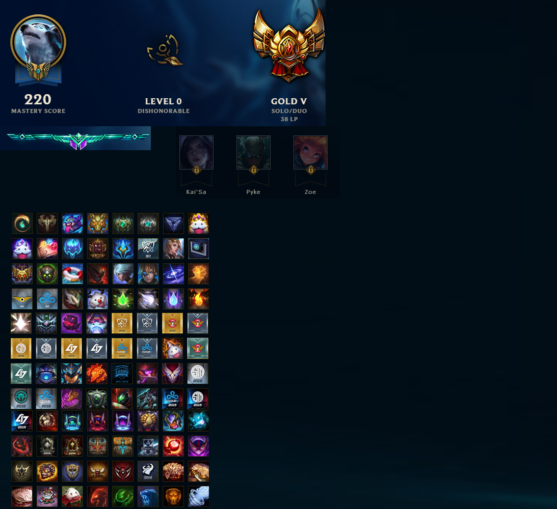 League Of Legends Account For Sale Gold V 138 Champions 630