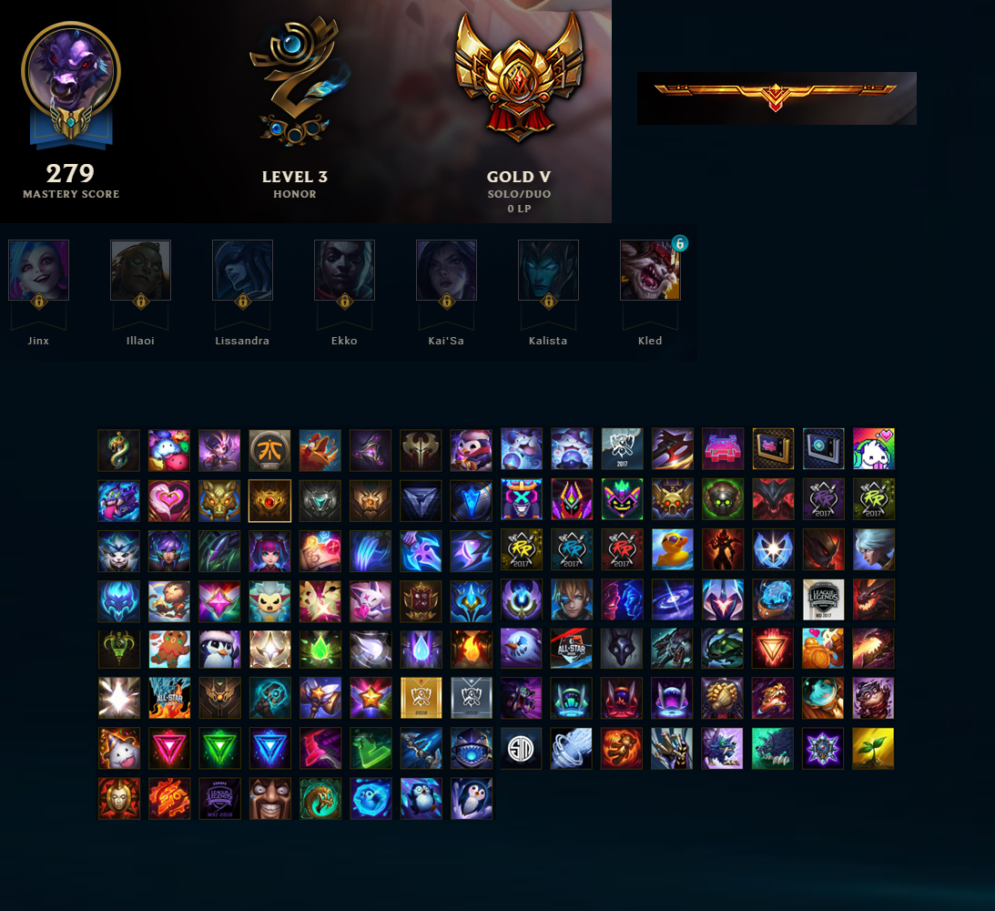 League Of Legends Account For Sale Gold V 134 Champions 250